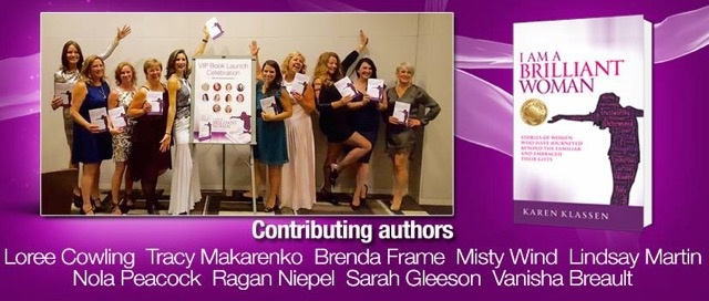 Picture of contributiing authors in purple - Brillant Woman