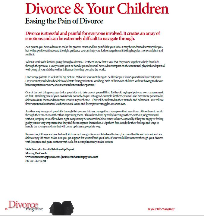 divorce paper with red title